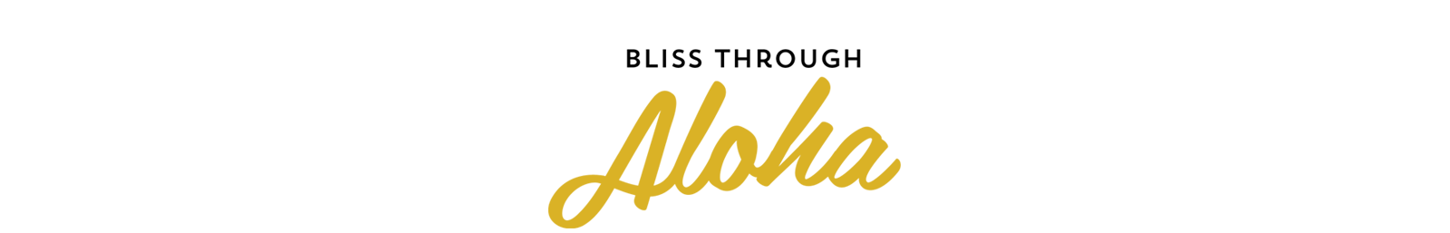 Bliss Through Aloha Logo